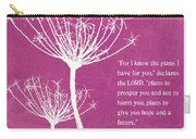 Hope And Future Carry-all Pouch by Linda Woods