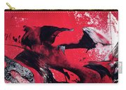 Hope - Red Black And White Abstract Art Painting Carry-all Pouch