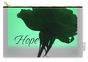Hope Rose Silhouette - Floral Photography - Rose Macro W-text Carry-all Pouch