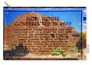 Hopi House And Dedication Plaque Carry-all Pouch