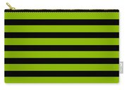 Horizontal Black Inside Stripes 09-p0169 Carry-all Pouch