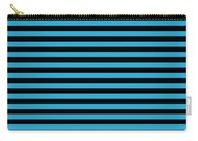Horizontal Black Inside Stripes 18-p0169 Carry-all Pouch