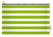 Horizontal White Inside Stripes 09-p0169 Carry-all Pouch