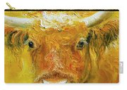 Horned Cow Painting Carry-all Pouch