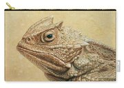 Horned Toad Carry-all Pouch by James W Johnson