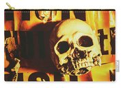 Horror Skulls And Warning Tape Carry-all Pouch