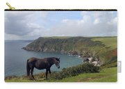 Horse Along Coastal Path Cornwall Carry-all Pouch