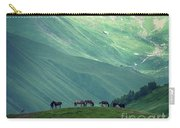 Horse Among The Mountains Of Georgia Carry-all Pouch