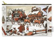 Horse And Carriage In The Snow Carry-all Pouch