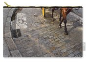 Horse And Carriage On Cobblestoned Alvarez Quintero Street In Th Carry-all Pouch