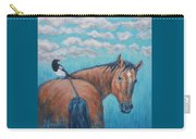 Horse And Magpie Carry-all Pouch