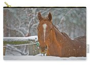 Horse And Snowflakes Carry-all Pouch