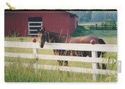 Horse And The Barn Carry-all Pouch