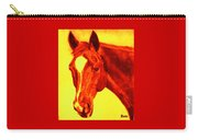 Horse Art Horse Portrait Maduro Deep Yellow And Orange Carry-all Pouch