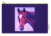 Horse Art Horse Portrait Maduro Pink And Purple Carry-all Pouch