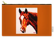 Horse Art Horse Portrait Maduro Red With Yellow Highlights Carry-all Pouch