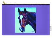 Horse Art Horse Portrait Maduro Striking Purple Carry-all Pouch