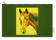Horse Art Horse Portrait Maduro Yellow Carry-all Pouch