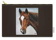 Horse Art Portrait Of Horse Maduro Carry-all Pouch