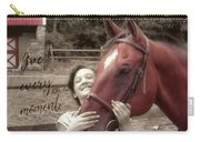 Horse Crazy Quote Carry-all Pouch