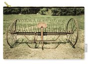Horse Drawn Hay Rake Aged Carry-all Pouch