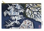 Horse Dreaming Below Trees Carry-all Pouch by Carol  Law Conklin