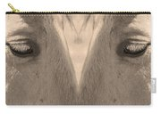 Horse Eyes Love Sepia Carry-all Pouch