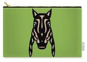 Horse Face Rick - Horse Pop Art - Greenery, Hazelnut, Island Paradise Blue Carry-all Pouch