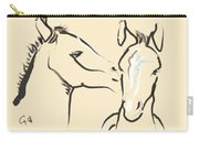 Horse-foals-together 6 Carry-all Pouch