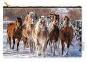 Horse Herd In Snow Carry-all Pouch