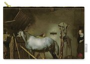 Horse In A Stable Carry-all Pouch