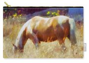 Horse In Field Carry-all Pouch