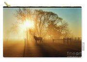 Horse In The Fog At Dawn Carry-all Pouch