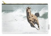 Horse In The Storm - Parallel Hatching Carry-all Pouch