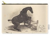 Horse Jumping A Barrier Carry-all Pouch