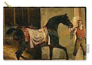 Horse Leaving A Stable Carry-all Pouch