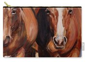 Horse Oil Painting Carry-all Pouch