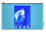Horse Painting Jumper No Faults Aquamarine Carry-all Pouch
