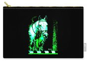 Horse Painting Jumper No Faults Black Blue And Green Carry-all Pouch