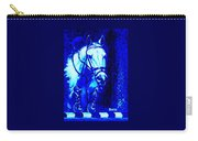 Horse Painting Jumper No Faults Blue Carry-all Pouch