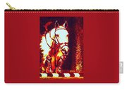 Horse Painting Jumper No Faults Deep Blues And Reds Carry-all Pouch