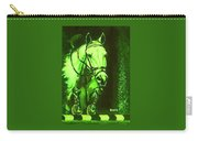 Horse Painting Jumper No Faults Deep Greens Carry-all Pouch