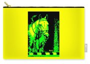 Horse Painting Jumper No Faults Green And Yellow Carry-all Pouch