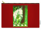 Horse Painting Jumper No Faults Green With Reds Carry-all Pouch