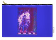 Horse Painting Jumper No Faults Purple And Blue Carry-all Pouch