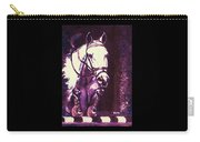 Horse Painting Jumper No Faults Purple Carry-all Pouch