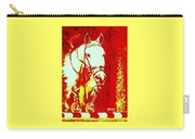 Horse Painting Jumper No Faults Red And White Carry-all Pouch