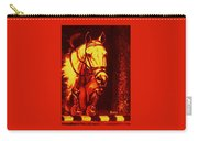 Horse Painting Jumper No Faults Reds Carry-all Pouch