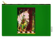 Horse Painting Jumper No Faults Reds Greens Carry-all Pouch