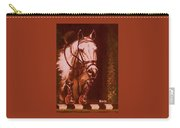 Horse Painting Jumper No Faults Soft Browns Carry-all Pouch